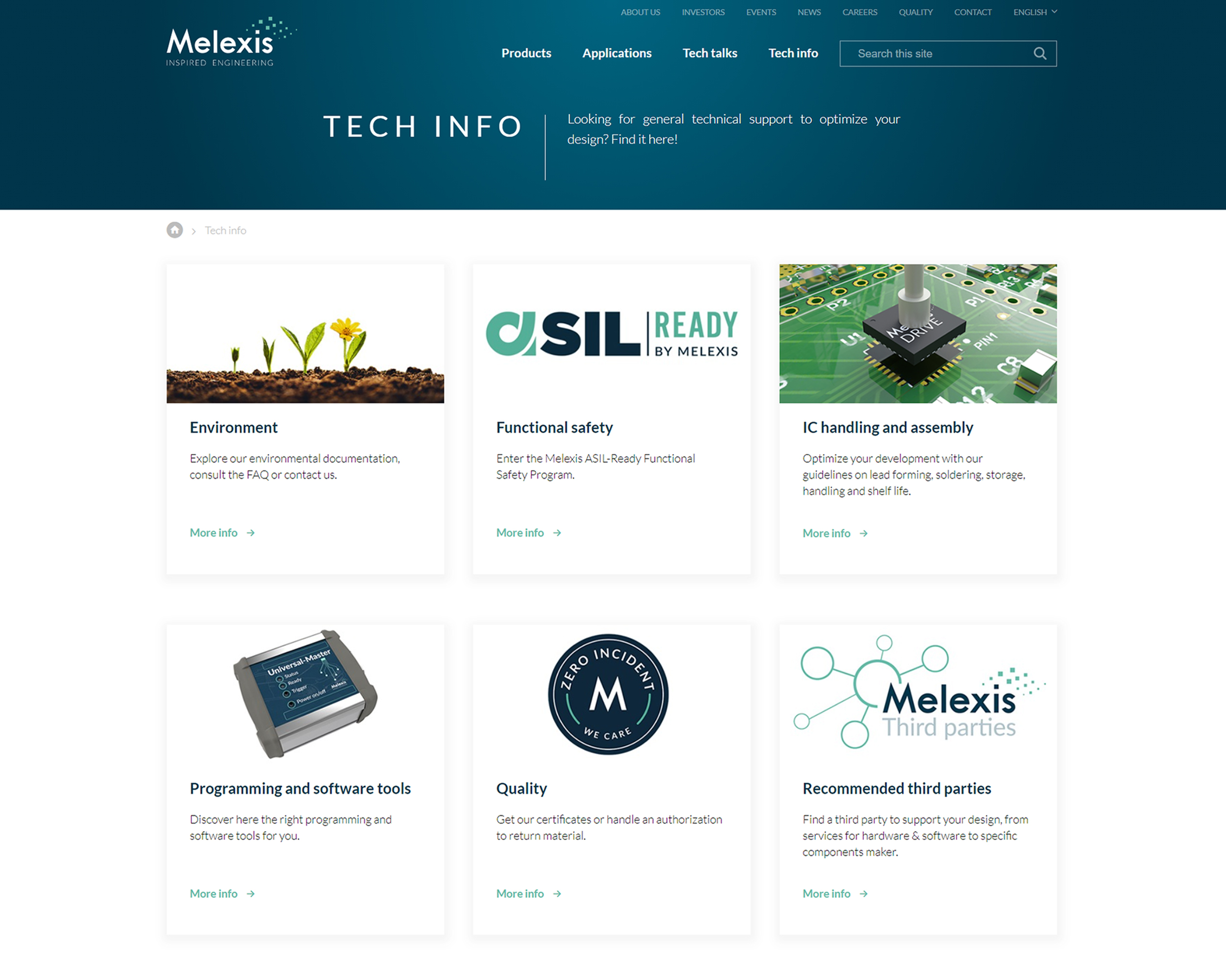 Tech info page #Melexis