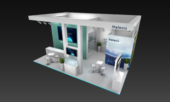 Melexis booth at Electronica China 2017 - Melexis