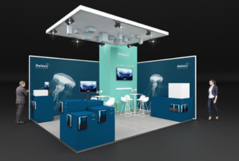 Melexis booth at EV Tech Expo 2019 in Stuttgart