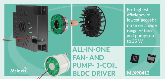 MLX90412 - All-in-one fan- and pump- 1-coil BLDC DRIVER
