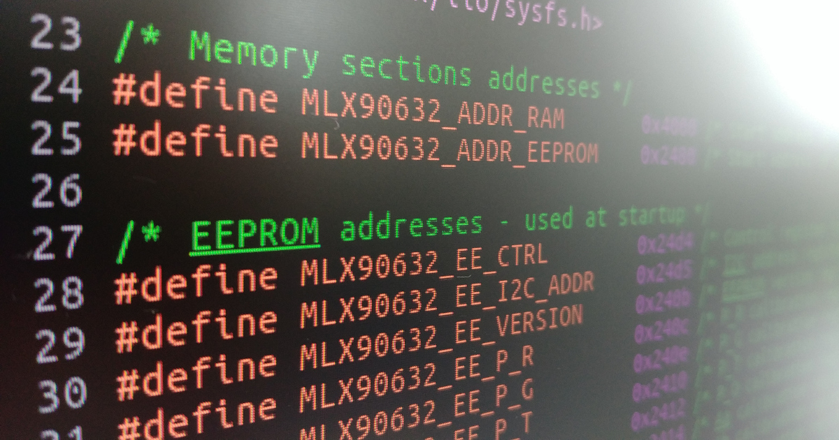 Infrared Temperature Sensor Driver for Linux Kernel #Melexis